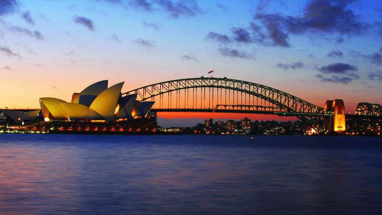 Sydney Bridge in Twilight